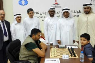 عبد العزيز بلحيف النعيمي  يفتتح بطولة الشارقة الدولية للشطرنج 2016