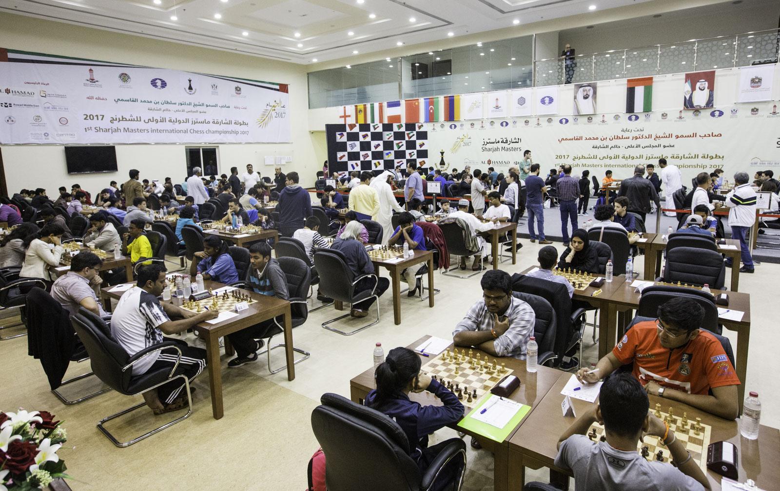 الجولة الرابعة من بطولة الشارقة ماسترز الدولية الأولى للشطرنج
