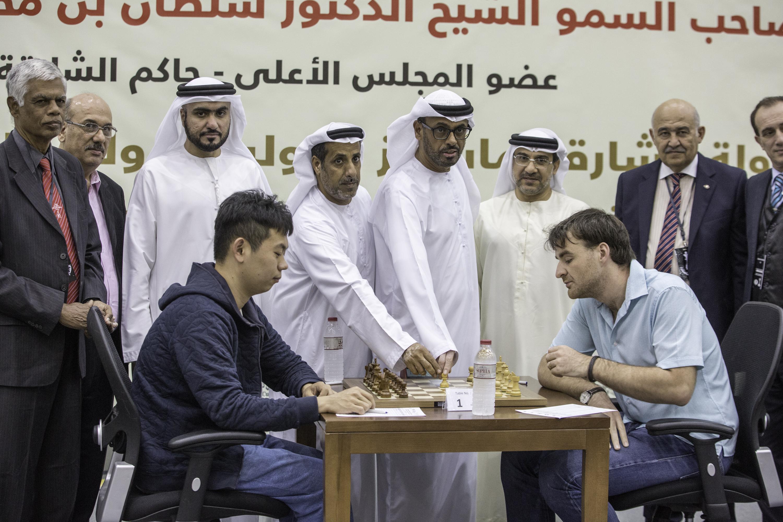 الجولة الخامسة من بطولة الشارقة ماسترز الدولية الأولى للشطرنج