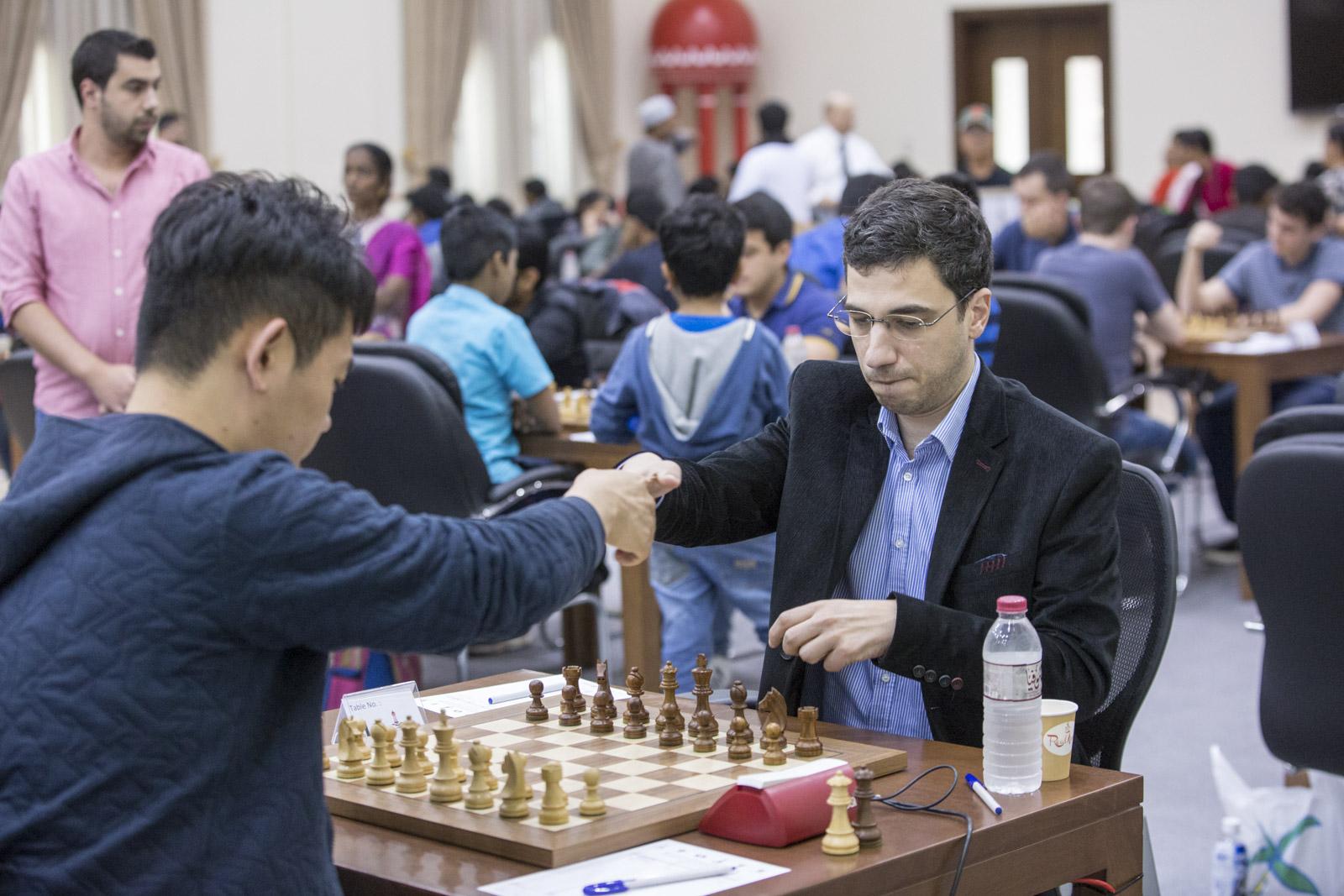 الجولة السادسة من بطولة الشارقة ماسترز الدولية الأولى للشطرنج