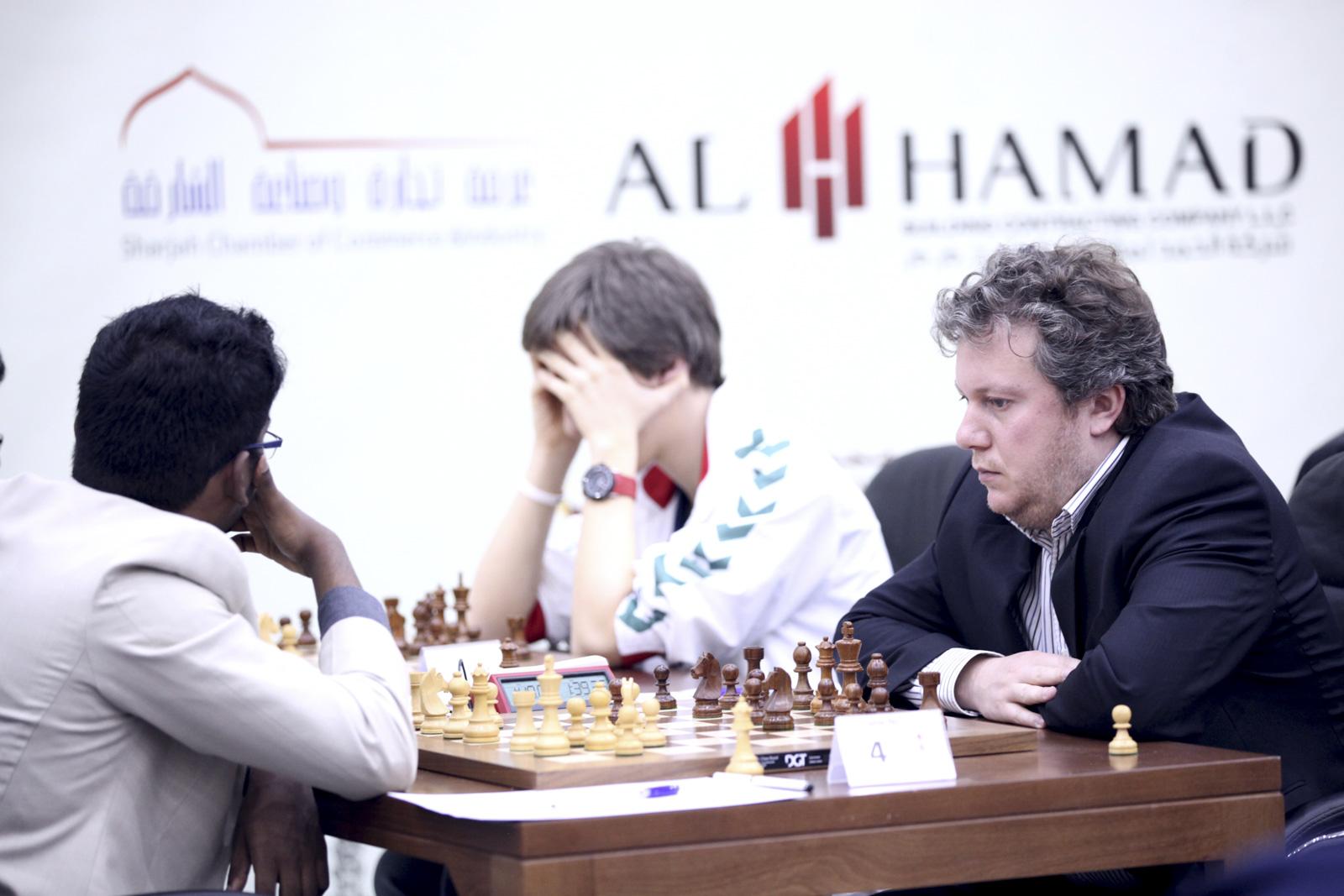 الجولة الثامنة من بطولة الشارقة ماسترز الدولية الأولى للشطرنج